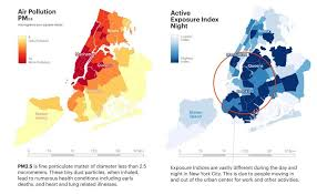 map new york maps reveal nyc neighborhoods with the worst air pollution and