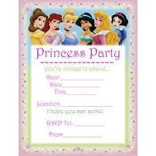 disney princesses printable birthday invitation birthday party
