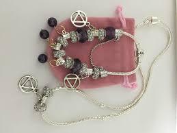 necklace pandora style images Pandora addiction recovery bracelet necklace sobriety jpg