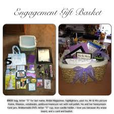 gifts for soon to be engagement gift basket i made for my and my soon to be