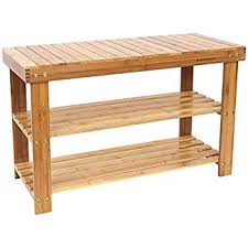 Hidden Storage Shoe Bench Amazon Com Songmics Metal Shoe Bench 2 Tier Shoe Rack Entryway