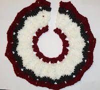 crochet pattern for a yarn christmas train tree skirt christmas