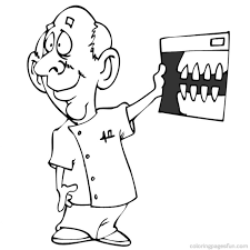 printable dental coloring pages kids coloring