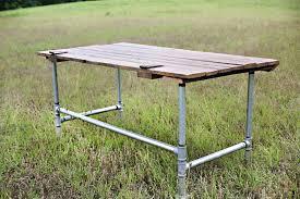 galvanized pipe table legs galvanized pipe desk diy plumbing table tutorial onsingularity com