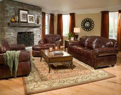 Living Room With Brown Leather Sofa Decor Around Distressed Leather Sofa Pinteres
