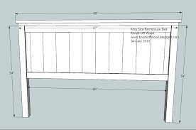 How To Build A Cal King Platform Bed Frame by Ana White Farmhouse King Bed Plans Diy Projects