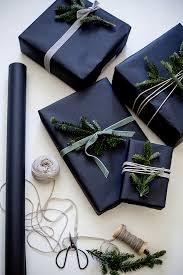 navy blue wrapping paper gift wrapping shannon kirsten christmas