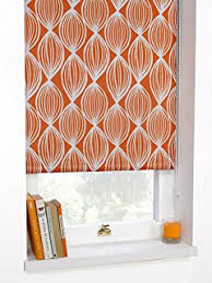 Thermal Blackout Blinds Origin Blackout Bright Orange Roller Blind Orange And Peach