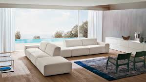 modular sofa contemporary leather fabric domino dall