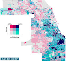 Blue Line Chicago Map by Income And Racial Inequality Maps Business Insider