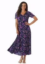 petite short sleeve crinkle dress plus size petite dresses