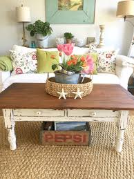 What To Put On End Tables In Living Room by D D U0027s Cottage And Design My Vintage Farm Table