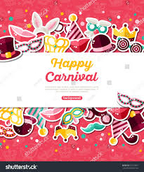 halloween carnival background carnival concept banner icons stickers on stock vector 529119007