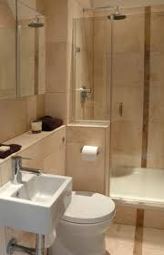 bathroom small bathroom with glass partition and washer and also