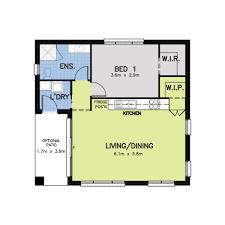 1 bedroom granny flat floor plans bedroom granny flat designs finder also floor plans open plan