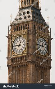 London Clock Tower by Big Ben Clock Tower Situated London Stock Photo 75849820