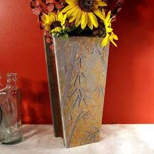 Bamboo Wall Vase Natural Slate Vases U0026 Slate Wall Vases Elegant Stone Decor U0026 Gifts