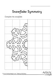 snowflake symmetry worksheet inspiration pinterest symmetry