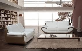 canapé design cuir 2 places pas cher linati