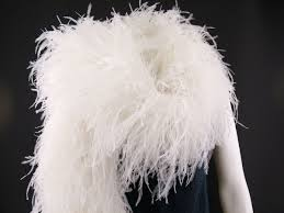 white ostrich feather centerpieces ostrich feather