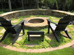 Simple Backyard Landscapes Magnificent Bonfire Pit In Patio Contemporary With Front House