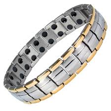 bracelet magnetic images Europe gold silver finish titanium magnetic therapy bracelet jpg