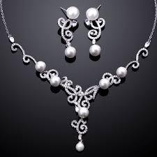 engagement jewelry sets aliexpress buy tread aaa cubic zirconia pearl