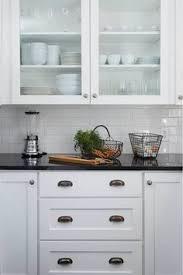 White Kitchen Cabinets With Black Granite Countertops Kitchen White Cabinet Dark Grey Floor Tiles Lovely Kitchens