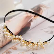 korean headband korea style lovely white pearl headband headbands hair accessories