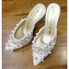 wedding shoes murah selop for kebaya nefrin fadlan for brideseries wedding shoes