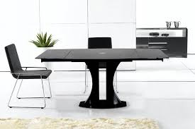 dining table modern black extendable vg956 blk modern dining
