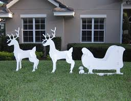 outdoor reindeer christmas decorations simple outdoor com