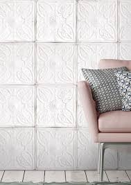 tin tile wallpaper in white by woodchip u0026 magnolia