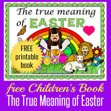 free easter book for children happy and blessed home