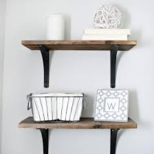 Wood Bathroom Shelves by Make These Diy Rustic Shelves Using Stained Wood Planks And