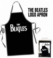 beatles home decor the beatles drop t logo on black apron