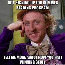 Reading Meme - summer reading meme information space
