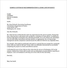 sample recommendation letter recommendation letter for a student