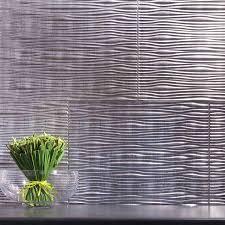 Fasade BacksplashWaves In Crosshatch Silver - Silver backsplash