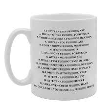 mg828 grammar expletive novelty funny gift mug novelty gift