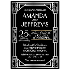 gatsby invitations great gatsby deco silver anniversary invitations paperstyle
