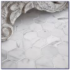 faux marble hexagon floor tile tiles home decorating ideas