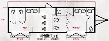 Biltmore Floor Plan The Biltmore Restroom Trailer By Callahead 1 800 634 2085