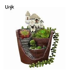 aliexpress com buy urijk castle house shaped resin garden pots