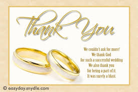 wedding thank yous wording wedding thank you card wording sles easyday