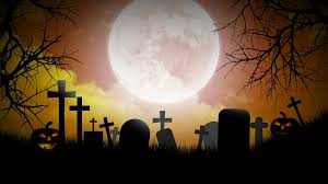 background video halloween video halloween background with pumpkins moon and graveyard