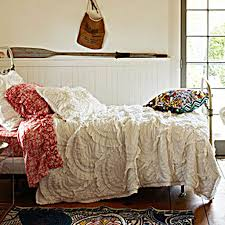 Traditional Bedding Bedroom Cozy Tufted Bed With Metal Frame And Anthropologie