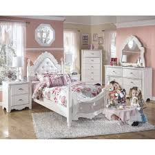 Ashley Zayley Bedroom Set Four Poster Bed With Wonderland Canopy For Kids In S A White By