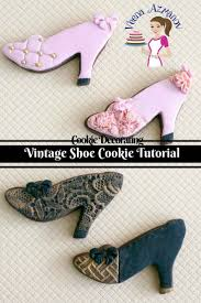 How To Decorate Shoes Vintage Shoe Cookie Tutorial How To Decorate Shoe Cookies