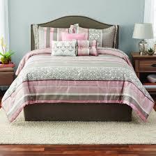 Jacquard Bed Set Mainstays Multi Stripe 7 Jacquard Comforter Set Walmart